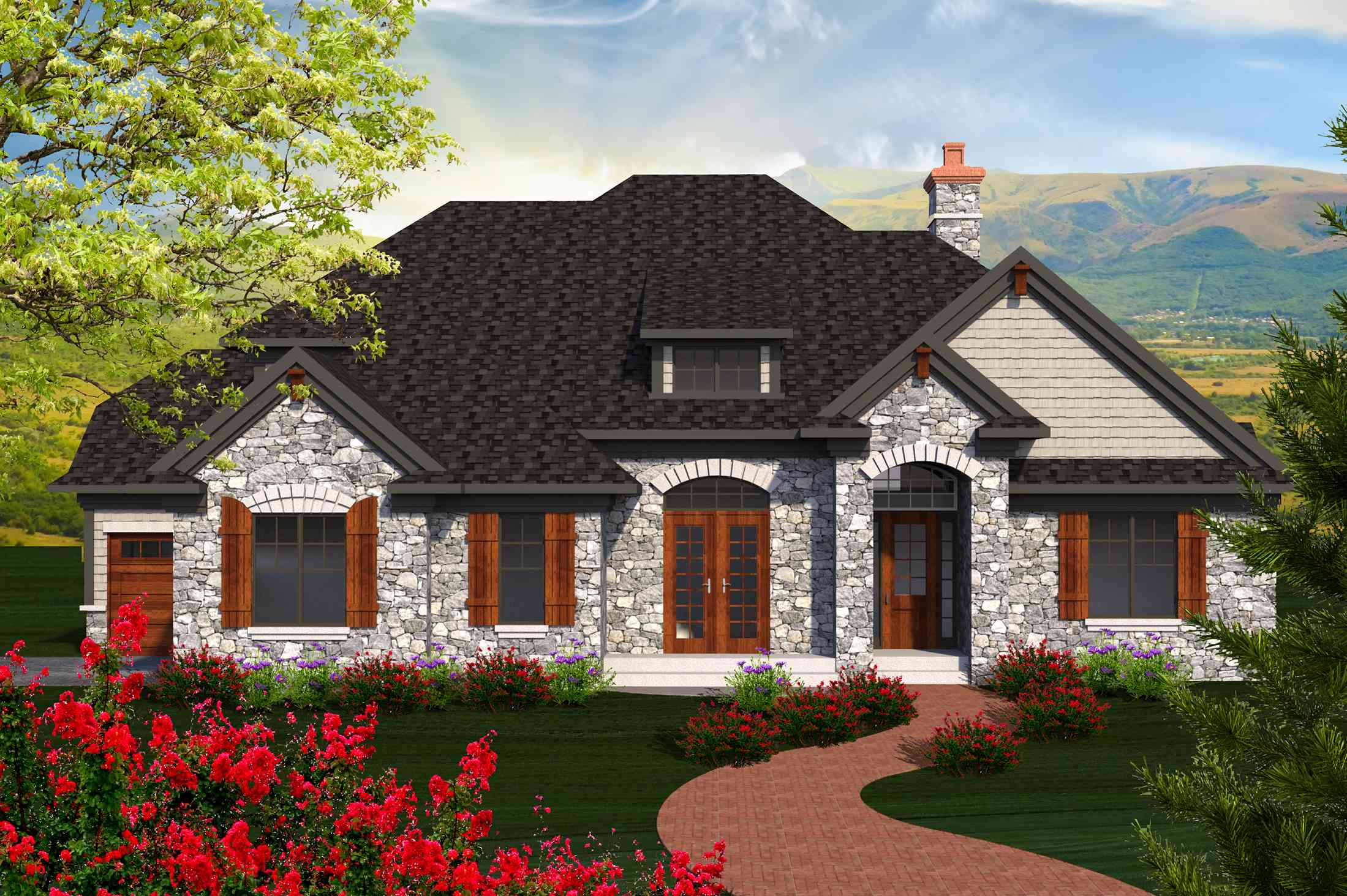 4 Bed Country French House Plan - 89925AH