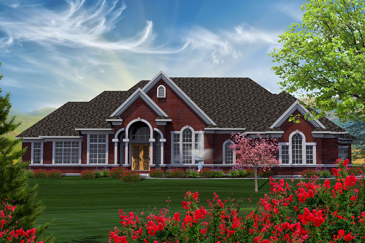 Traditional ranch home with updated modern look 89929ah for Reverse ranch house plans