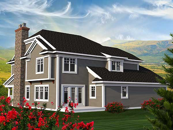 Traditional House Plan With Modern Facade 89943AH 2nd