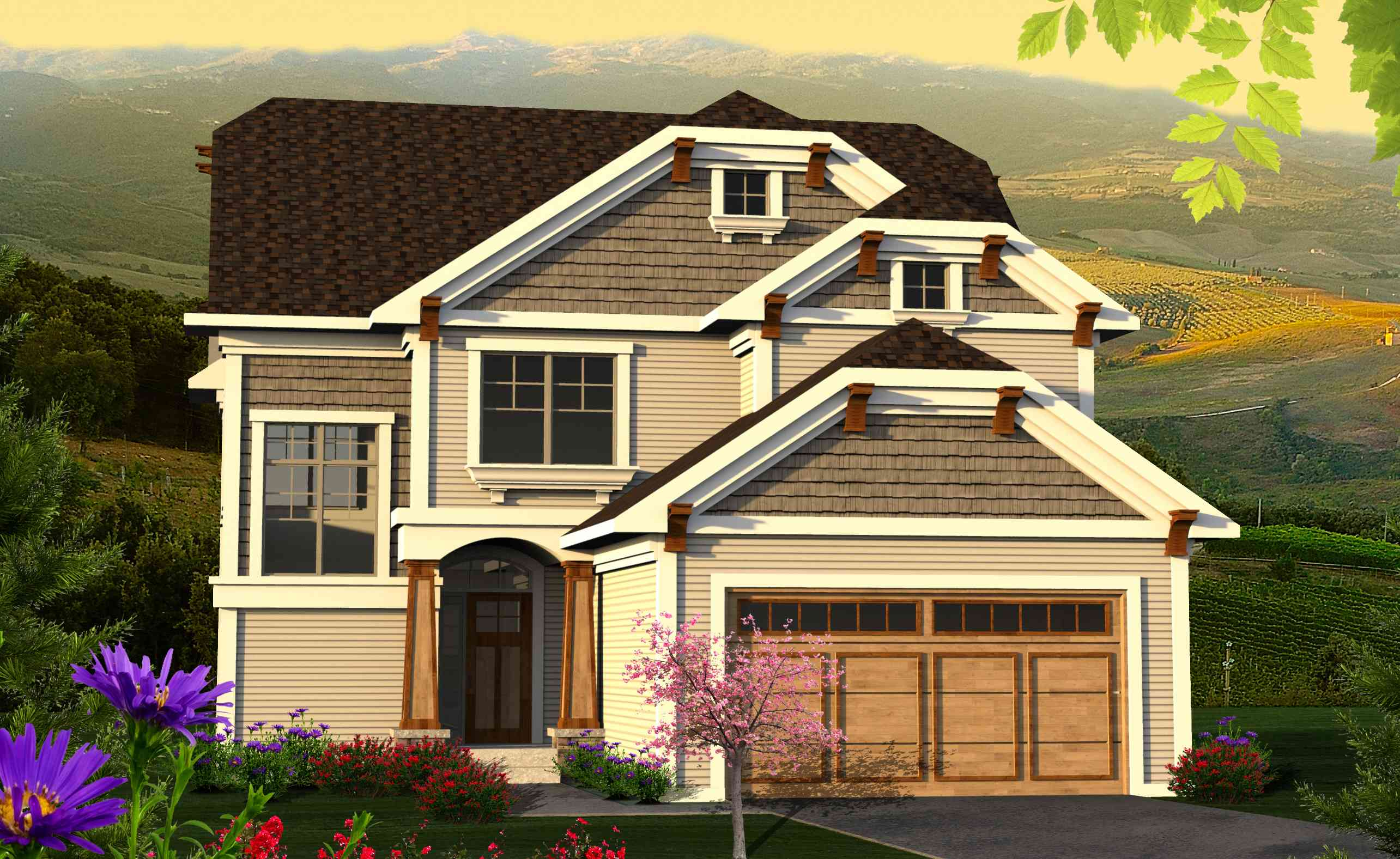 Clipped Gable Craftsman Home Plan 89956ah 2nd Floor