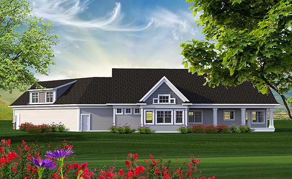 Mountain ranch with bonus over the garage 89961ah 1st for Ranch house plans with bonus room above garage