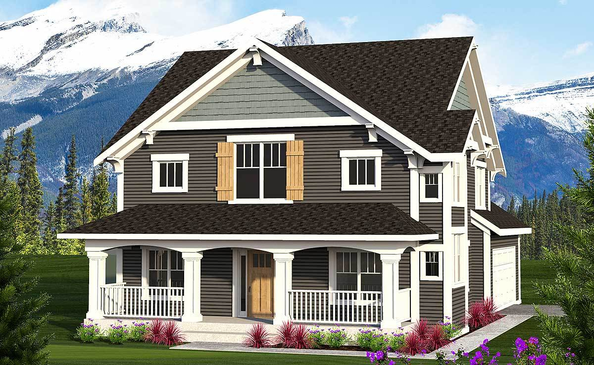 2 story farmhouse with front porch 89964ah for Architectural designs farmhouse