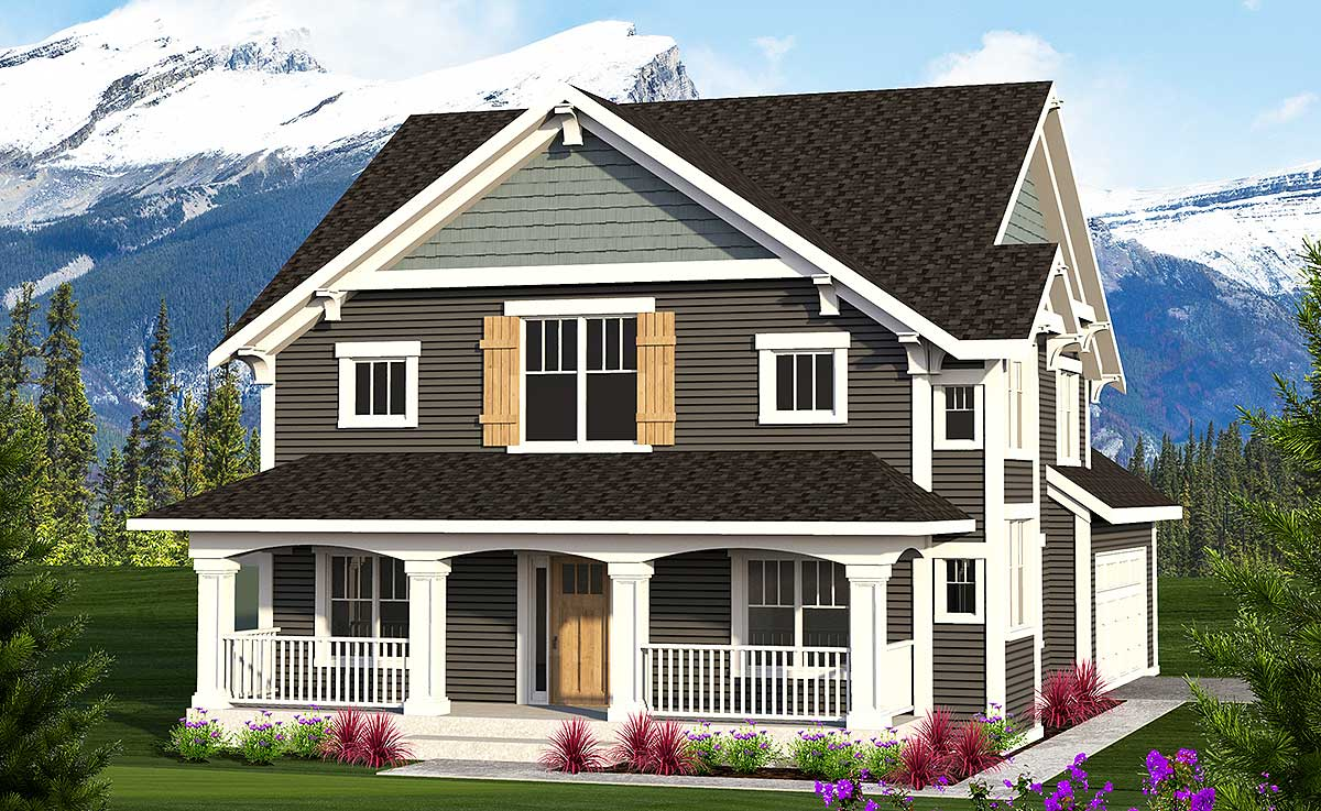 2-Story Farmhouse With Front Porch