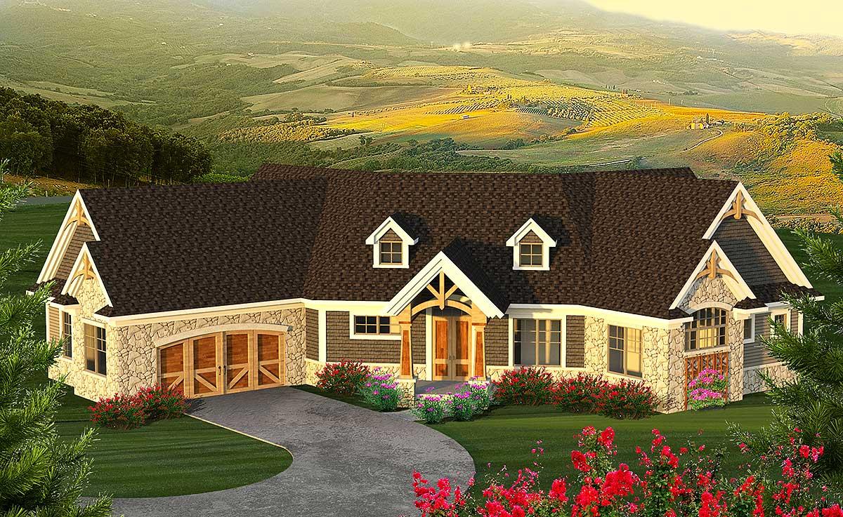 Angled Mountain Ranch With Loft - 89969AH