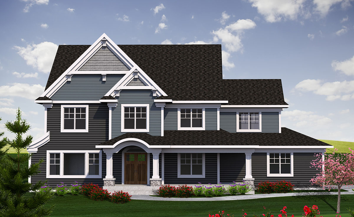 two story craftsman 2 story traditional with craftsman touches 89970ah 15253