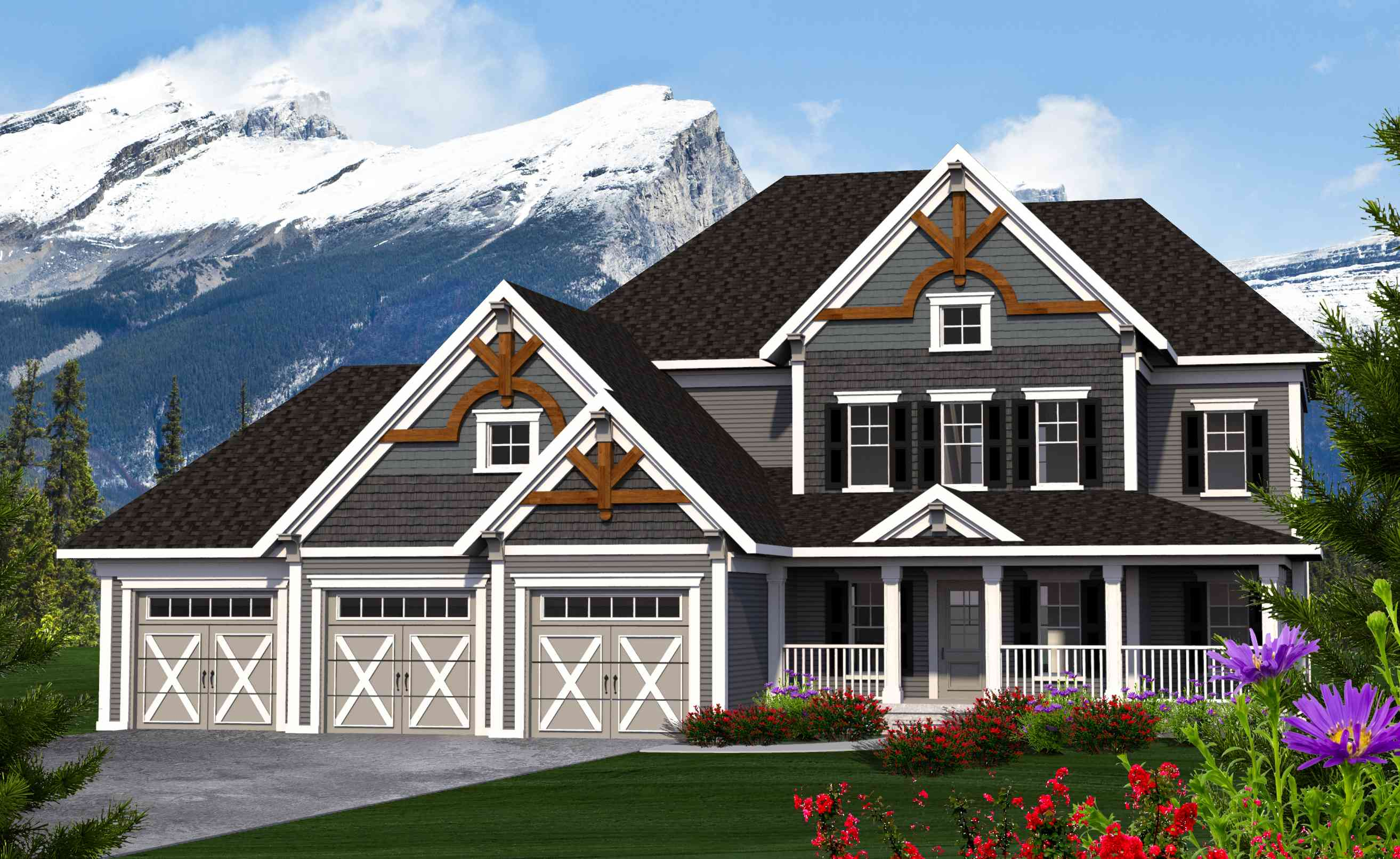 L Shaped Porch And Flexible Floorplan 89974ah 2nd Floor Master Suite Cad Available Country