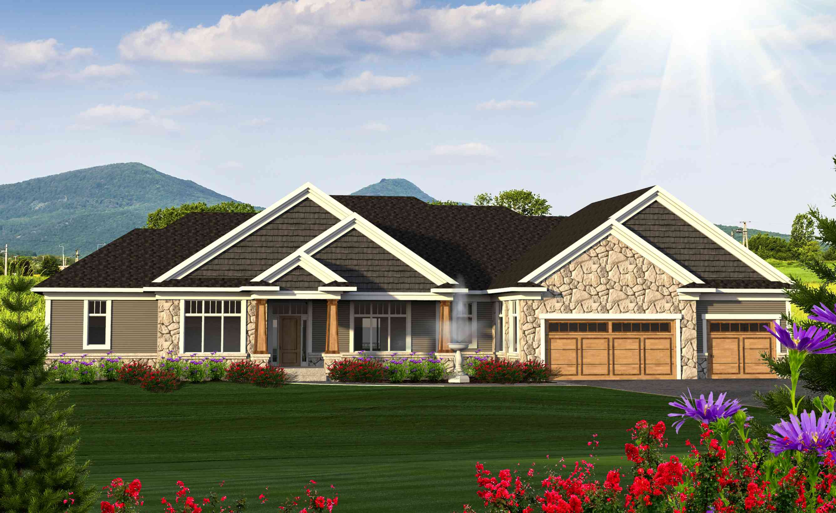 Ranch house plan with in law suite 89976ah 1st floor for Home plans in law suite