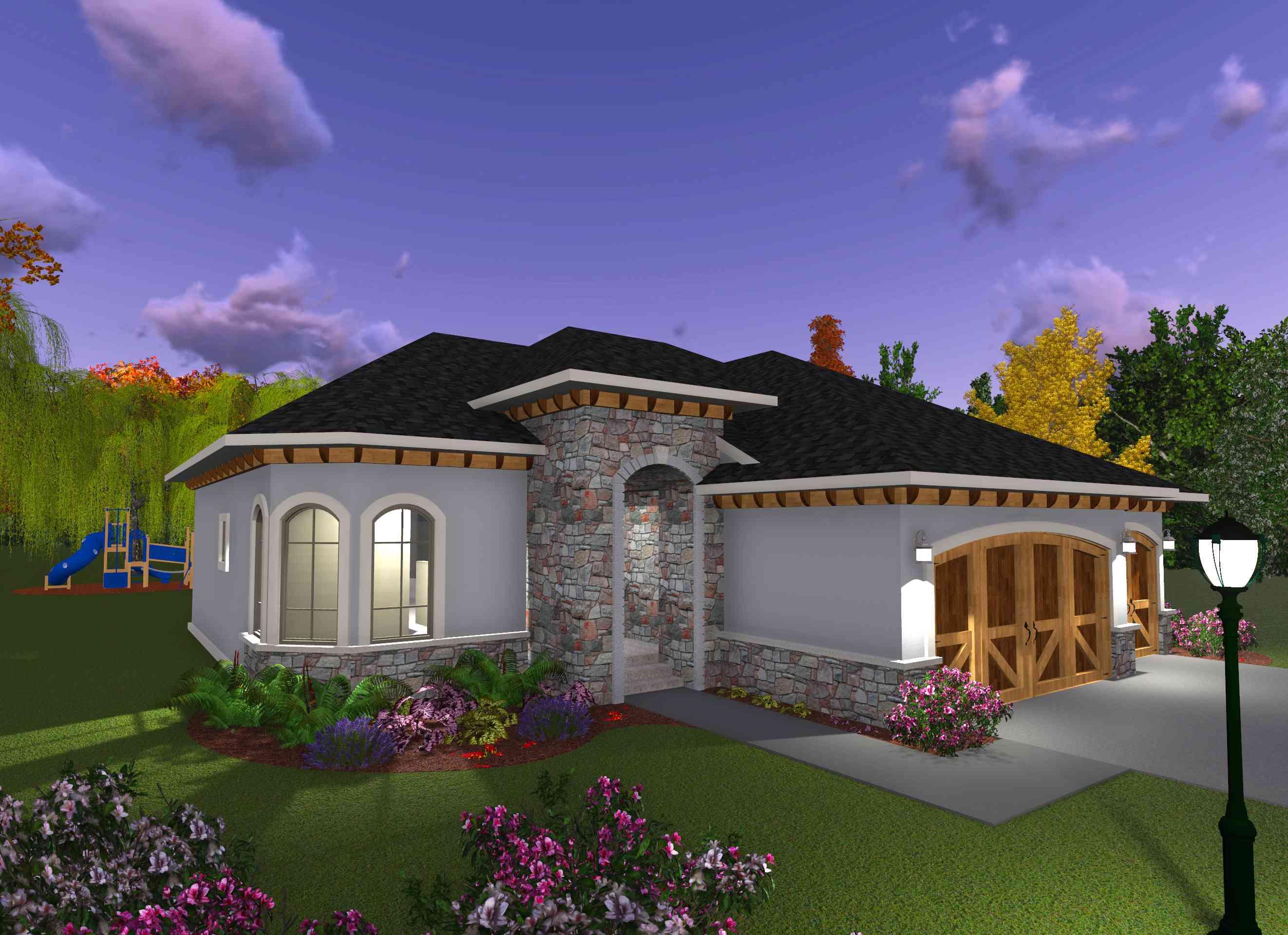 3 Bedroom Prairie Style Home 89984ah 1st Floor Master