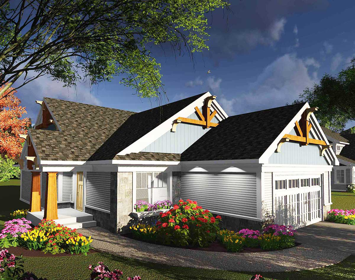 two bedroom ranch house plans 2 bedroom ranch home with decorative timbers 89985ah architectural designs house plans 2112