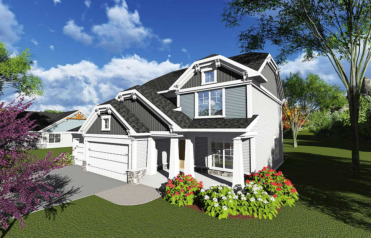 3 bedroom clipped gable house plan 89991ah 2nd floor Gable house plans
