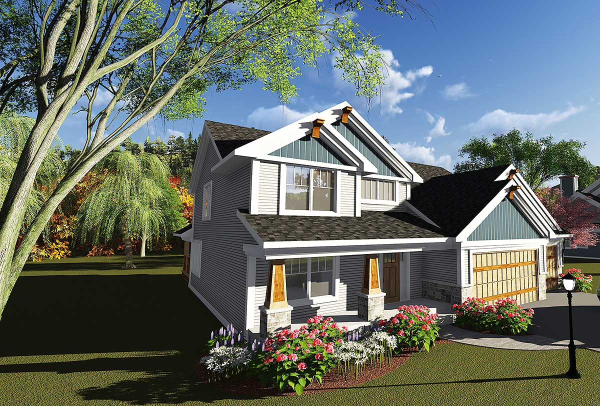 2 story traditional craftsman with grand fireplace Traditional craftsman home plans