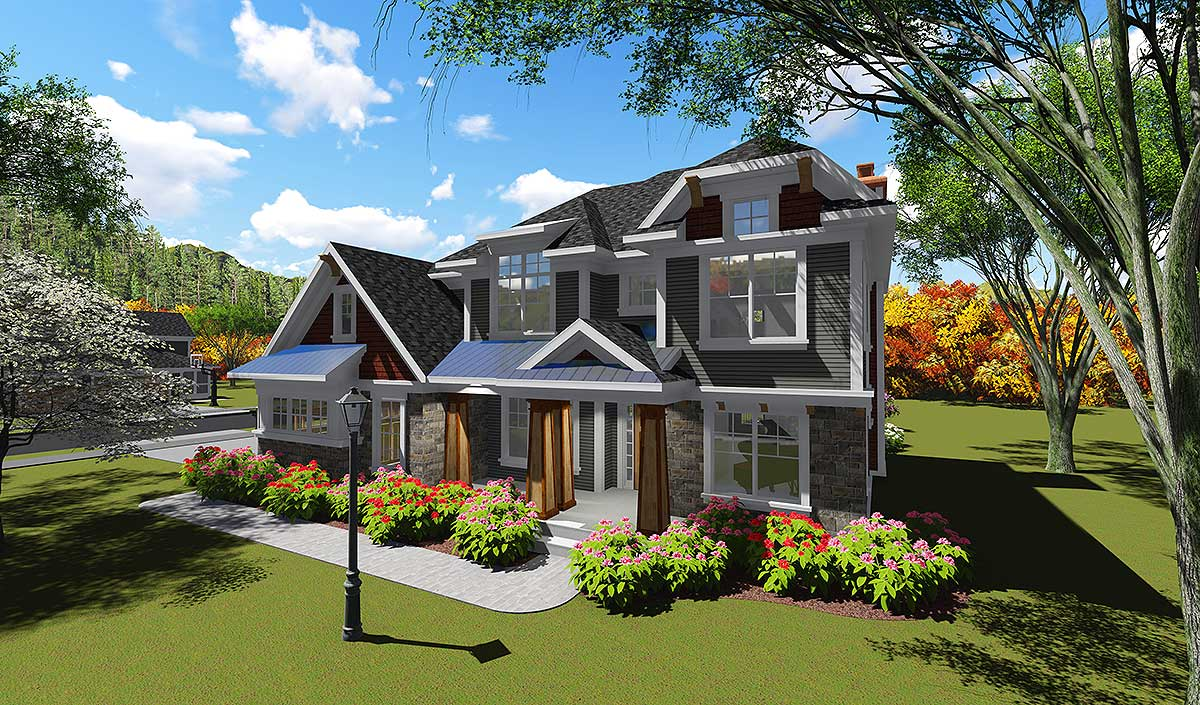 2 Story Open Concept Home 89997ah Architectural