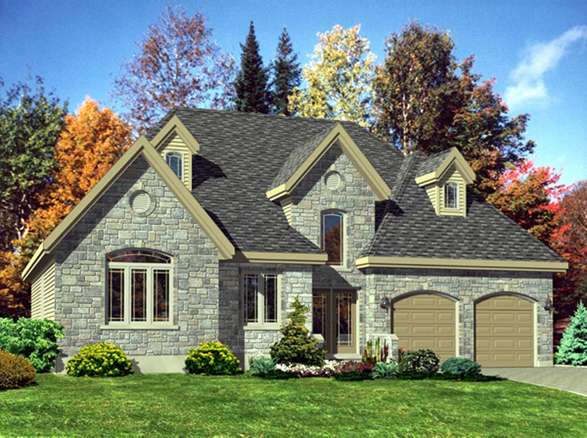 One story european house plan 90009pd architectural for 2 story european house plans
