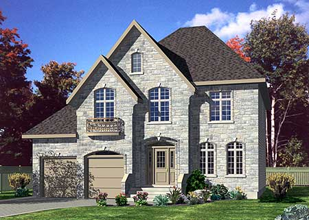 90019pd 2nd floor master suite cad available for European house plans for narrow lots