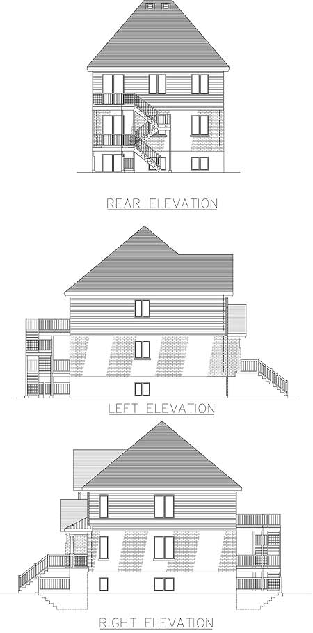 Narrow Lot Multi Family Canadian Metric House Plans Amp