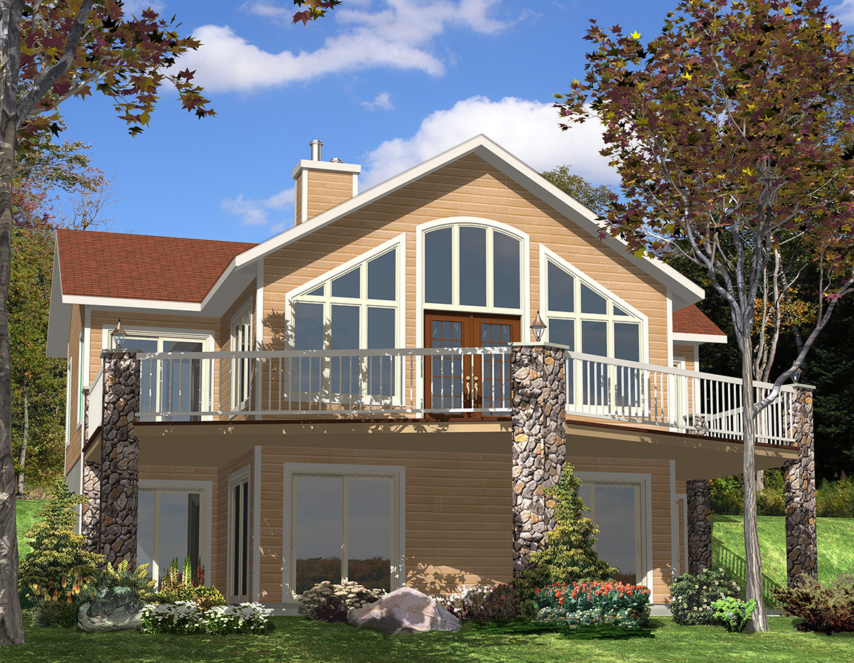 For the sloping lot 90075pd architectural designs for Home designs for sloped lots