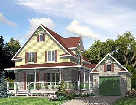 Two story farmhouse 90085pd architectural designs for Farmhouse two story house plans