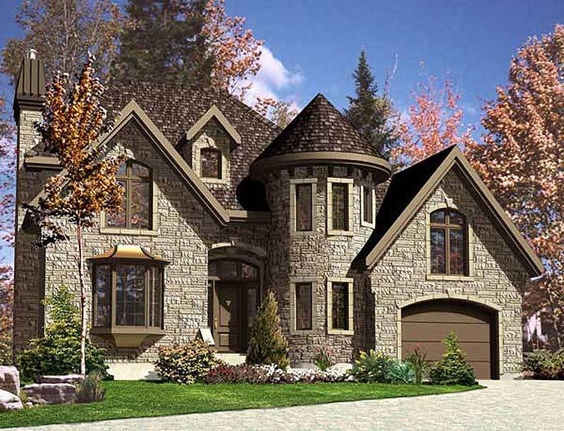 European stone castle 90125pd architectural designs for Stone house designs and floor plans
