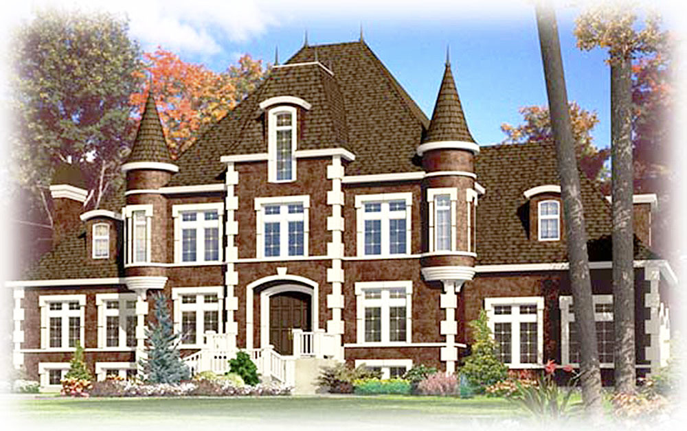 Dramatic european chateau 90129pd architectural for Chateau house designs