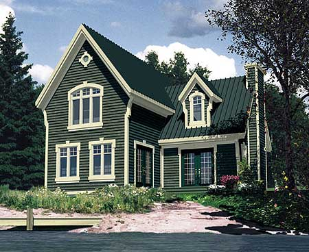 Farmhouse with metal roof 90134pd 2nd floor master for Cottage style roof design