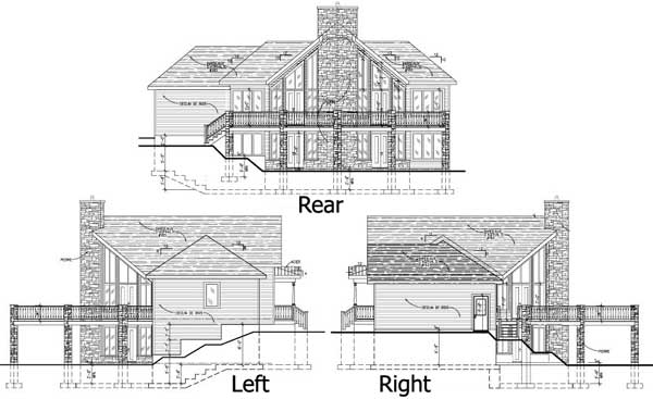 Dramatic windows for the sloping lot 90139pd 1st floor Vacation house plans sloped lot