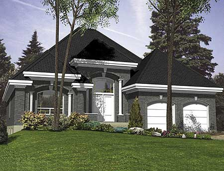 Elegant one level home 90142pd 1st floor master suite for Colores exteriores para casas modernas