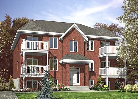 Six Plex Multi Family Home Plan 90146pd Architectural