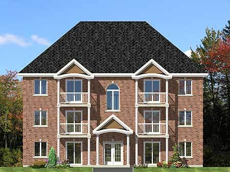 Six plex multi family house plan 90153pd architectural for Multi family home plans