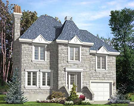 European narrow lot home plan 90169pd architectural for European house plans for narrow lots