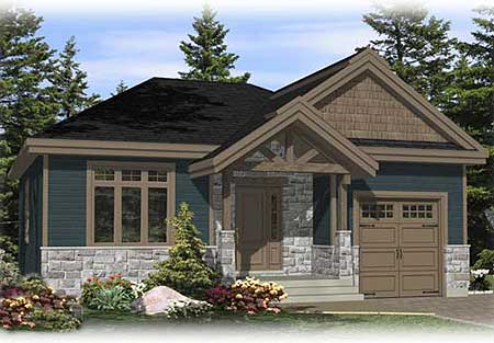 Small escape with options 90202pd architectural for Small house plans canada