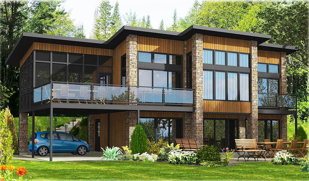 Dramatic Contemporary Home Plan 90232PD