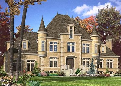 4 bed french chateau house plan 9025pd architectural for Chateau house plans