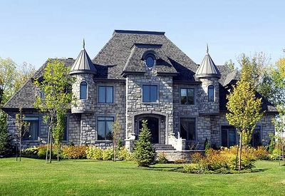 4 bed french chateau house plan 9025pd architectural for Castle style house plans