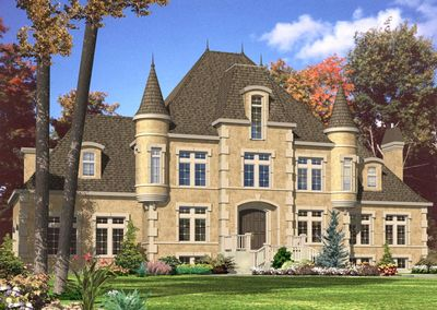 4 Bed French Chateau House Plan - 9025PD | Architectural Designs ...