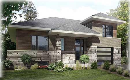 Split Level Prairie Style Home