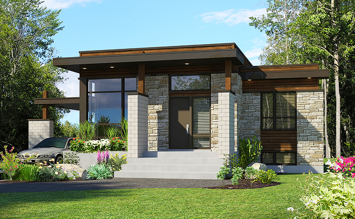 Impressive Contemporary Home Plans 4 Design Home Modern: Compact Modern House Plan - 90262PD