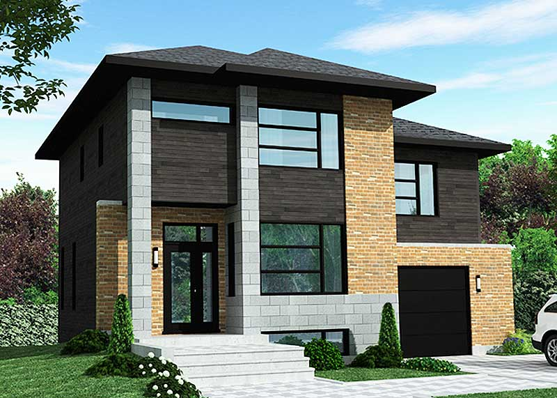 Dynamic contemporary house plan 90272pd architectural for Dynamic house