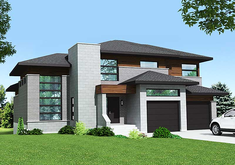 Handsome Prairie Style House Plan 90274pd