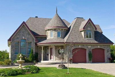 Stone mini castle 9041pd 1st floor master suite bonus for Castle rock floor plans