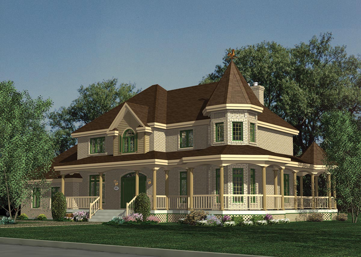 Victorian delight 9053pd 2nd floor master suite cad for Victorian farmhouse plans