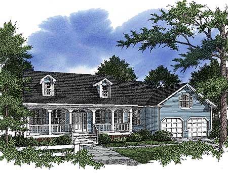Southern Ranch Home 9101gu Architectural Designs