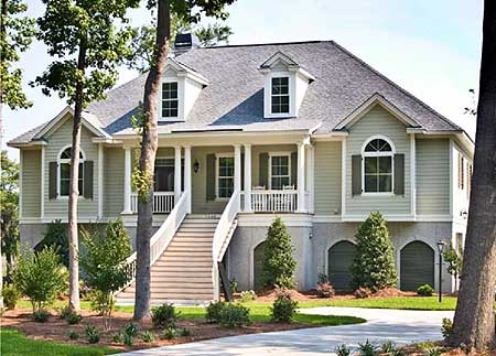 Low country beauty 91012gu architectural designs for Low country farmhouse plans
