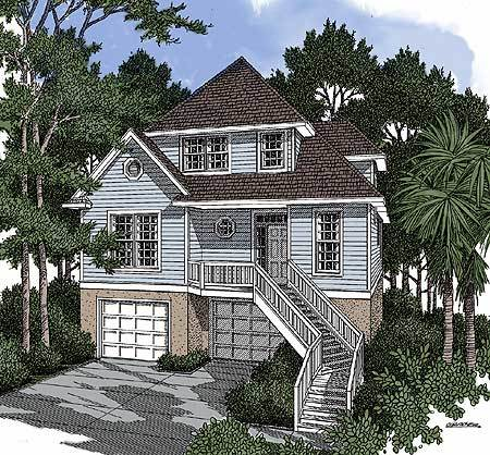 For the narrow waterfront lot 9102gu architectural for House plans for narrow lots on waterfront