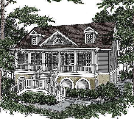 Distinctive low country home plan 9114gu architectural for Low country farmhouse plans