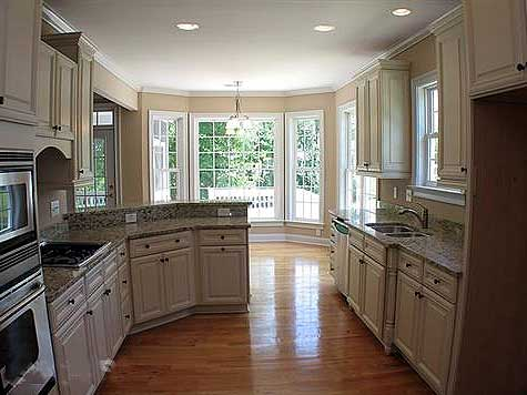 Distinctive low country home plan 9114gu 1st floor master suite butler walk in pantry cad - Narrow kitchen designs photo gallery ...