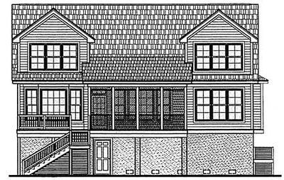 Distinctive Low Country Home Plan - 9114GU thumb - 09
