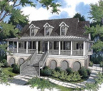 Decks and Porches for your Low Country Home - 9115GU thumb - 01