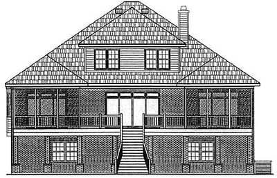 Stylish Low Country Home Plan - 9125GU thumb - 02