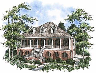 Stylish Low Country Home Plan - 9125GU thumb - 01