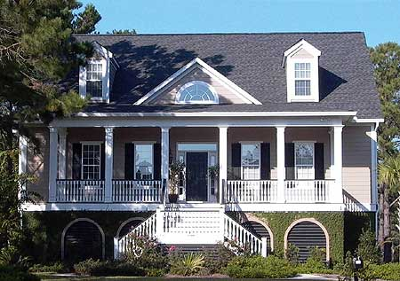 Low country house plan with elevator 9140gu 1st floor for Low country cottage plans